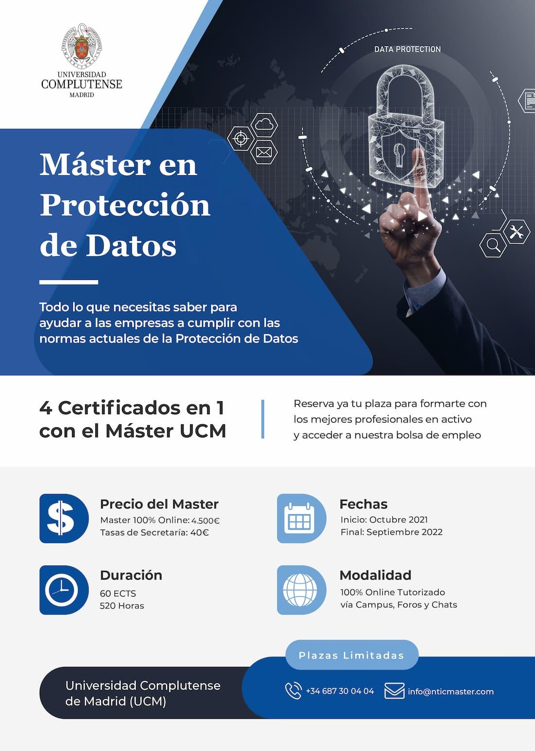 Master Proteccion de Datos Flyer Informativo